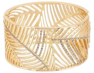 Jessica Simpson Feather Cutout Wide Bangle