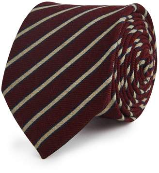 Reiss Our last order date for Christmas has now passed SEBASTIEN WOOL STRIPED TIE Bordeaux
