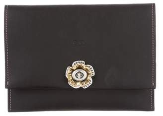 Co Leather Embellished Clutch