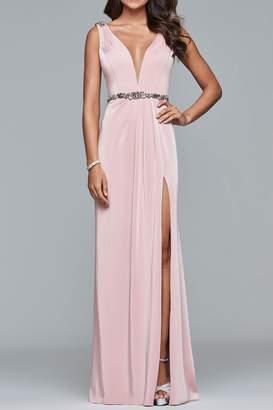 Faviana Waistline Accented Gown