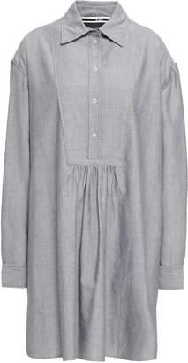 McQ Lace-up Cotton Oxford Mini Shirt Dress
