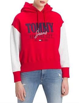 Tommy Hilfiger Tjw Cropped Logo Hoodie