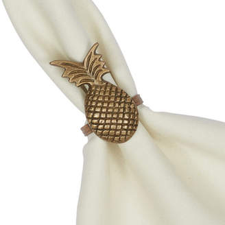 Design Imports Tropical Glam Pineapple Napkin Ring