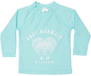 Billabong New Girls Toddler Girls Part Mermaid Rash Vest Blue