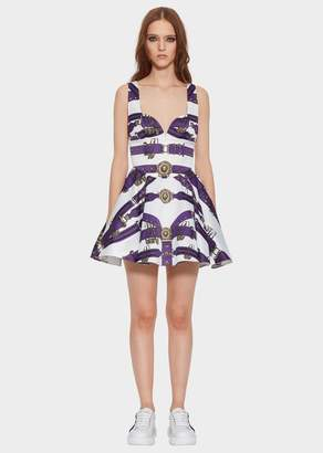 Versace Heritage Belt Fit and Flare Dress