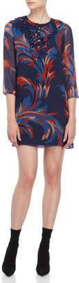 Atos Lombardini Printed Ruffle Mini Dress