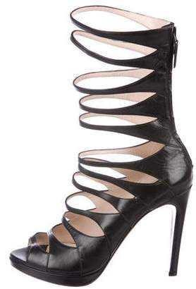 Prada Leather Cage Sandals