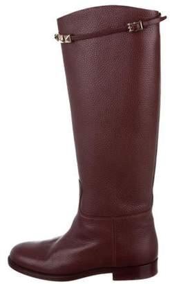 Valentino Rockstud Knee-High Boots gold Rockstud Knee-High Boots