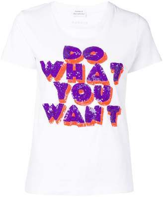 P.A.R.O.S.H. Do What You Want sequin T-shirt