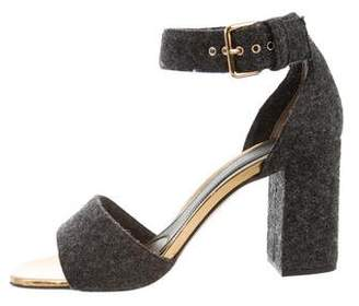 Marni Felt Ankle-Strap Sandals