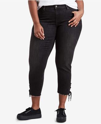 Levi's Plus Size 711 Cotton Raw-Hem Skinny Ankle Jeans