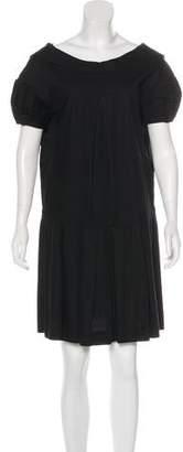 Miu Miu Short Sleeve Pleated Dress