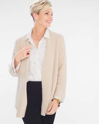 Chico's Chicos Oatmeal Cable-Back Cardigan