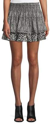 Ramy Brook Annabelle Printed Silk Mini Skirt