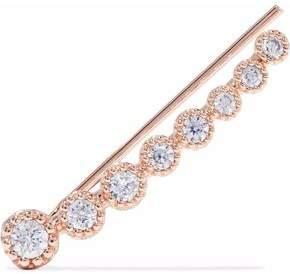Astrid & Miyu Astrid & Miyu Woman Snake Charmer 18-karat Rose Gold-plated Crystal Ear Cuff Rose Gold Size VMQfN