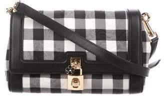 Dolce & Gabbana Leather-Trimmed Plaid Crossbody bag