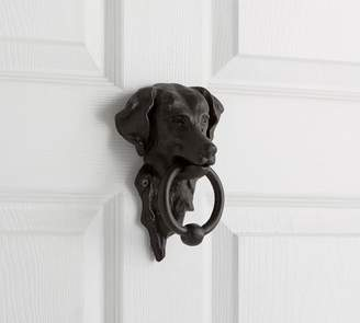 Pottery Barn Bronze Dog Door Knocker