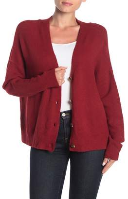 Cotton Emporium V-Neck Button Front Cardigan