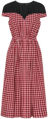 Fendi Checked cotton midi dress