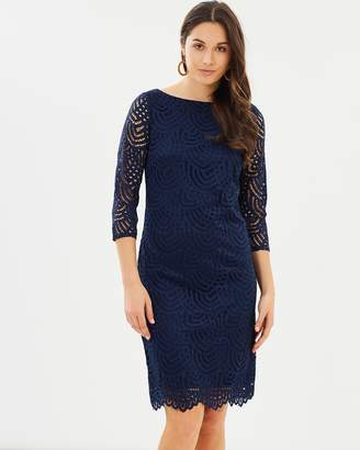 Wallis Lace Sleeved Shift Dress