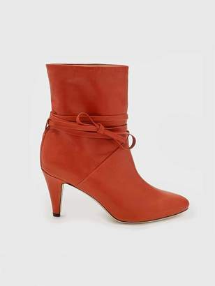 Sclarandis Sonia Tie Boot in Orange Size 36.5 Leather