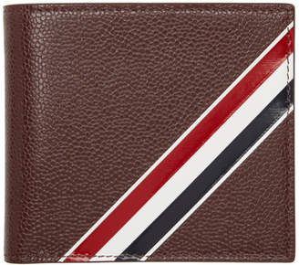 Thom Browne Burgundy Striped Bifold Wallet