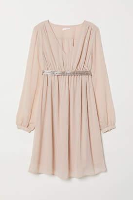 H&M MAMA Dress with Sparkly Belt - Orange