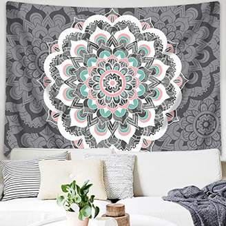 Sunm boutique Tapestry Wall Hanging Indian Mandala Tapestry Bohemian Tapestry Hippie Tapestry Psychedelic Tapestry Wall Decor Dorm Decor(Colorful
