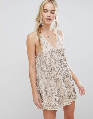 Free People Shine On Embellished Shift Dress