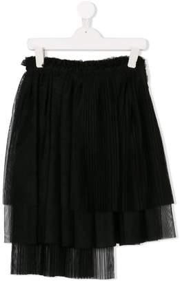 MSGM Kids tiered skirt