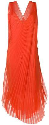 Lanvin pleated crossover dress