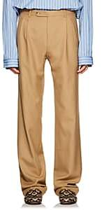 Gucci Men's Cuffed Wool Trousers - Beige, Tan