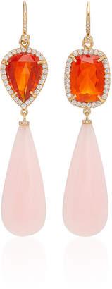 Irene Neuwirth One-Of-A-Kind 18K Rose Gold And Opal Drop Earrings