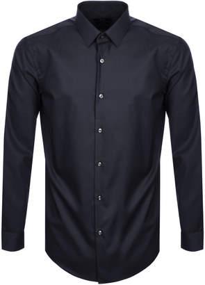 HUGO BOSS Slim Fit Isko Shirt Navy