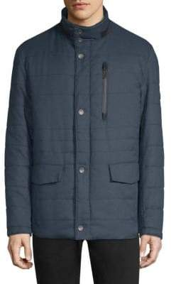 Bugatti Quilted Stand-Collar Coat