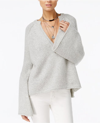 Free People Lovely Lines Bell-Sleeve Sweater $168 thestylecure.com