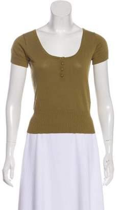 TOMORROWLAND Rib Knit Short Sleeve Top