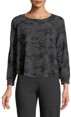 Sundry Trapeze Camo-Print Crewneck Sweatshirt