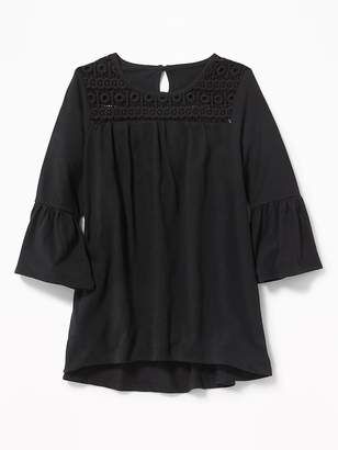 Old Navy Lace-Yoke A-Line Top for Girls