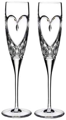 Waterford 'True Love' Lead Crystal Champagne Flutes