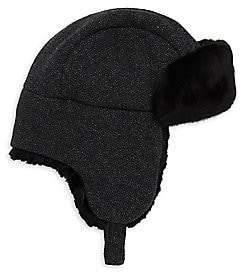 Inverni Women's Matilde Rabbit Fur-Lined Trapper Hat