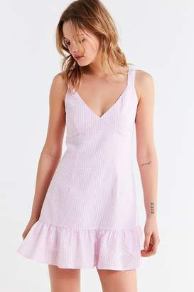 MinkPink Gables Gingham Tie-Strap Dress