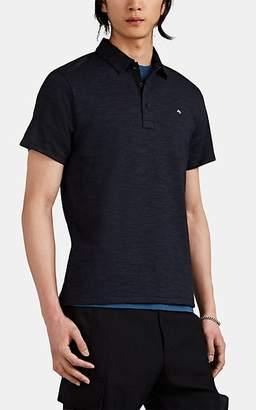 Rag & Bone Men's Classic Cotton-Blend Short-Sleeve Polo Shirt - Navy