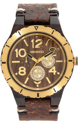 Men's Wewood Kardo Multifunctional Wood Leather Strap Watch, 46Mm $184.95 thestylecure.com