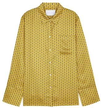 Asceno ASCENO Printed Silk Pyjama-style Blouse