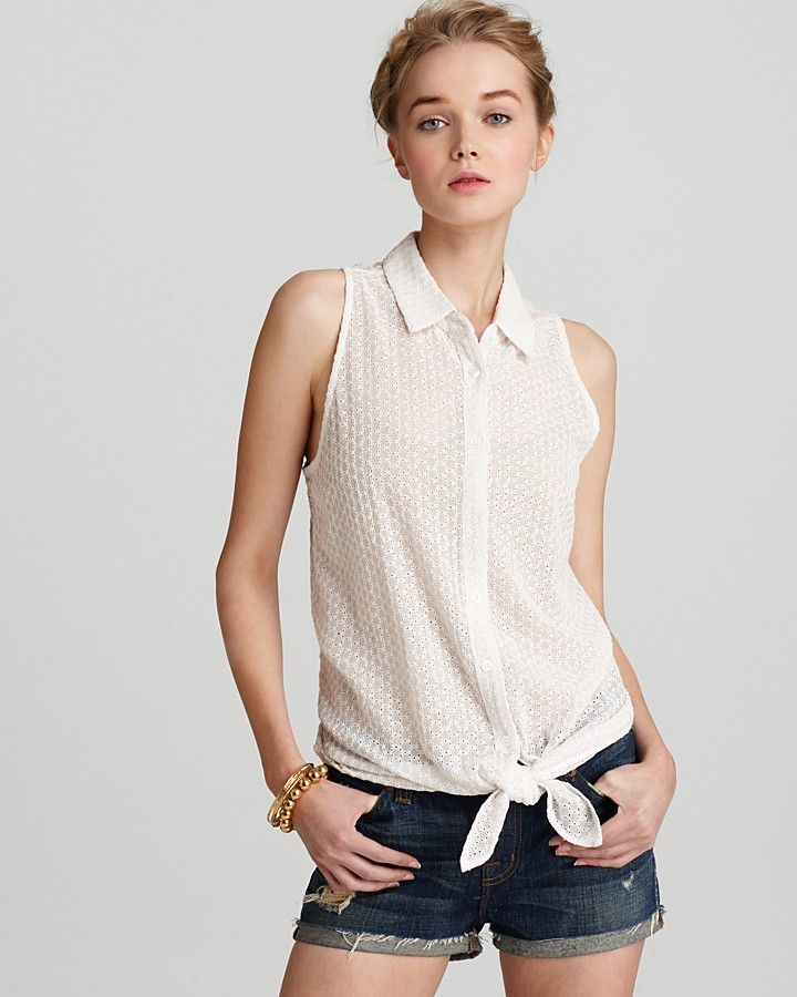 Equipment Blouse - Eyelet Mina Tie Front