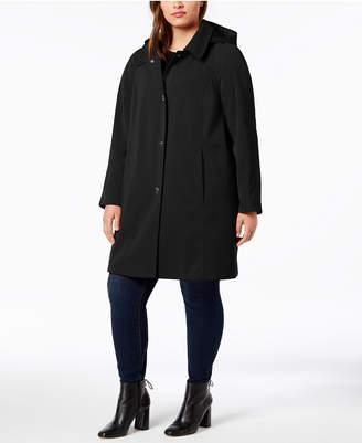 London Fog Plus Size Hooded Raincoat