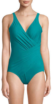 Miraclesuit One-Piece Crisscross Shirring Swimsuit