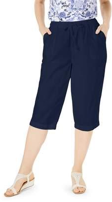 Karen Scott Petite Cotton Eyelet Chino Skimmer Shorts