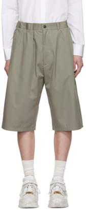 Maison Margiela Green Fine Twill Shorts